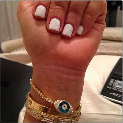 Kim Kardashian's Short, White Nails — New Trend?