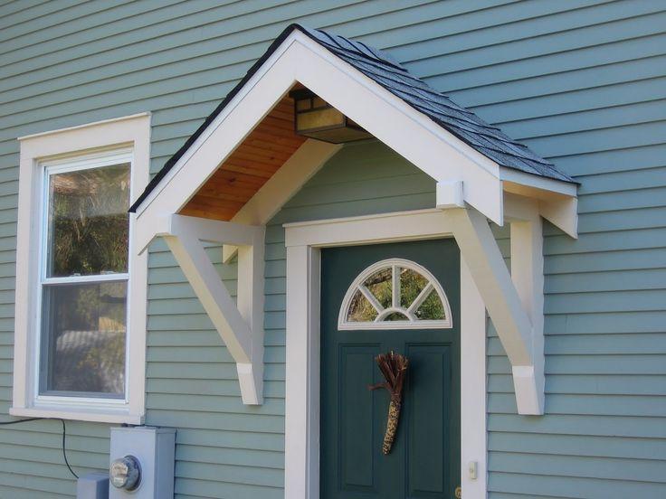 roof over front door entrance | Bungalow Restoration: Side door overhang