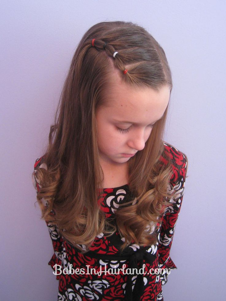 Bang Pull Back | Puffy Braids on the Side  Great if you're growing out bangs.  Or a cute style for babies or toddlers too!