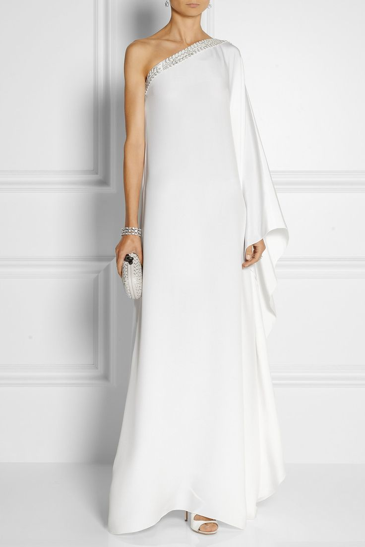 Emilio Pucci Embellished silk-satin kaftan-style gown. Wonder what Kest would think of Li in this...