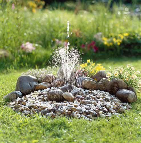 17 best ideas about fuentes de agua on pinterest water for Jardines decorados con piedras