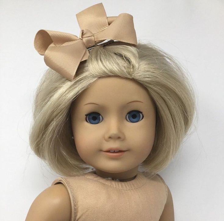 American Girl Doll ~ Blonde Hair Blue Eyes Pierced Ears Earrings - GUC - TLC #AmericanGirl