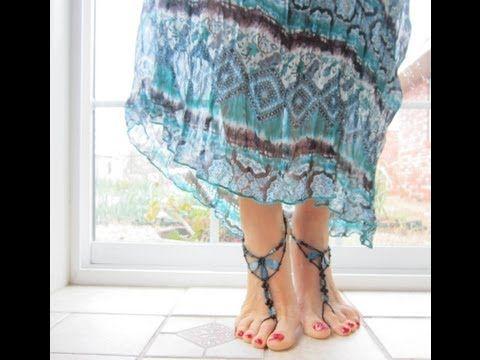 BareFoot Sandals Ocean. Бижутерия для ног. Сандали . Океан . - YouTube