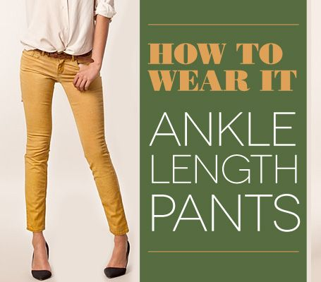 How To Wear It: Ankle-Length Pants : EcoSalon | Conscious Culture and Fashion