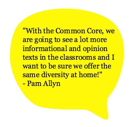 Pam Allyn on the importance of offering reading diversity in the home. #readeveryday
