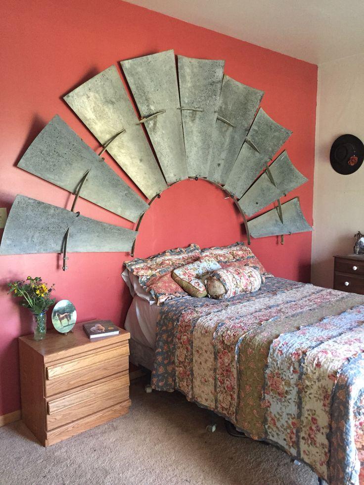 Windmill Headboard Montana Home Ranch Decor Farm Decor
