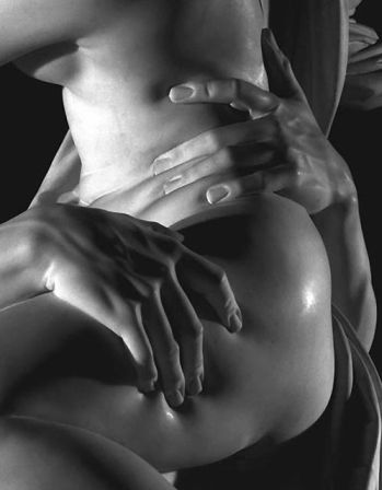 A close-up of Pluto and Proserpina, sculpted in white marble by Gian Lorenzo Bernini 1621-22, commissioned by Cardinal Scipione Borghese.