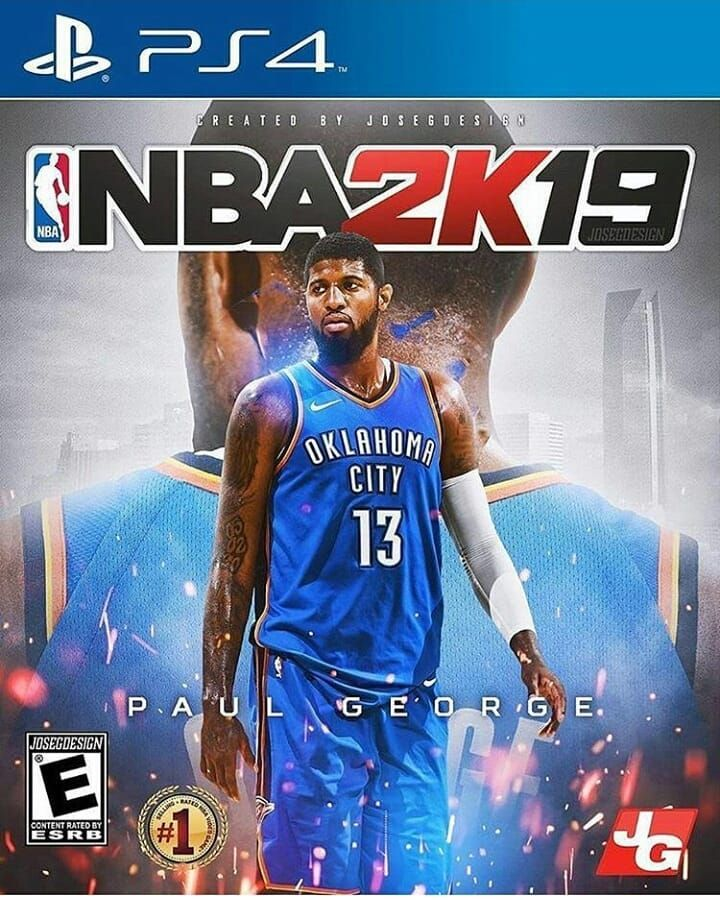Should Paul George have been the cover of NBA 2k19   ThunderUp   ThunderNation For more content like this follow  okcthunderhub  Sports   Basket  Ball ... 95401fa57