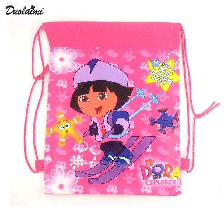 1 рис Дора школьные сумки детей мультфильм рюкзак drawstring сумка и инфантильный мешок Для детей обратно в школу mochila новости 2016 #men, #hats, #watches, #belts, #fashion