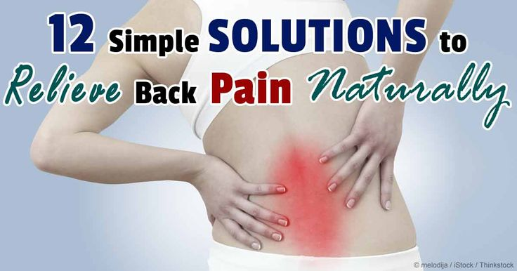 If you're experiencing back pain try these safe and natural treatment options instead of taking drugs.