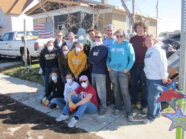 Spring Break 2012 Immersion Trip to Joplin, MO to help in relief efforts after the F-5 tornado that hit the town on May 22, 2011. The group worked on the demo of a house on Annie Baxter Ave. that was in the direct pathway of the storm.