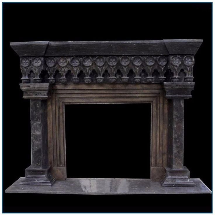 Antique Gothic Black Stone Marble Fireplace Mantel for Sale, View marble fireplace mantel, YZ Sculpture Product Details from Shijiazhuang Yuanzhao Import & Export Co., Ltd. on Alibaba.com