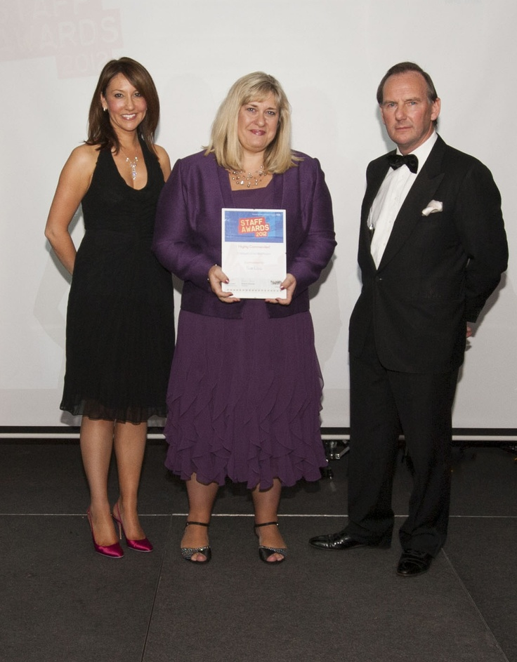 #SWBHawards Sue Law, highly commended for the Employee of the Year Award Sponsored by Carillion