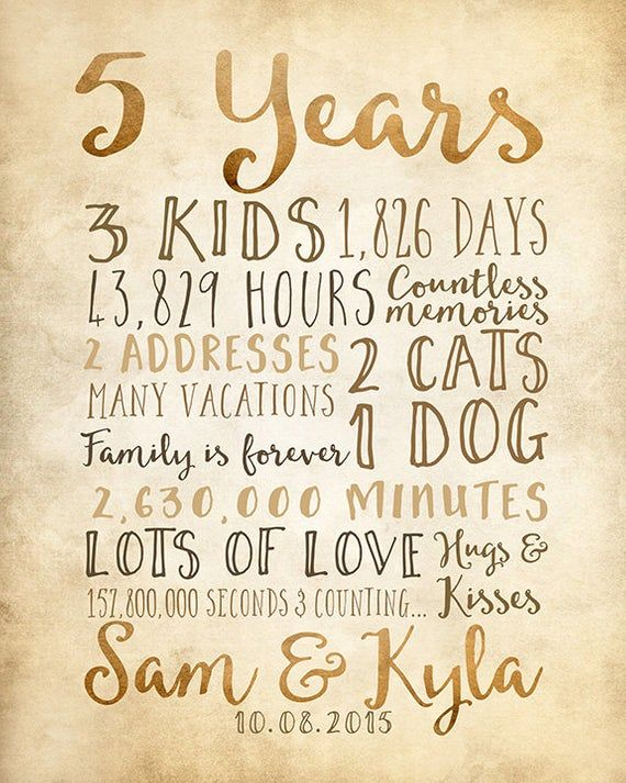 5 Year Anniversary Gift 5th Year Of Marriage Or Dating Etsy Mens Anniversary Gifts 5th Wedding Anniversary Gift 5 Year Anniversary Gift