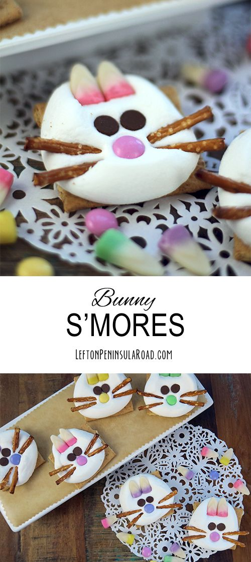 Make some adorable Bunny S'mores for your Easter celebration! Cute addition to the holiday dessert table!