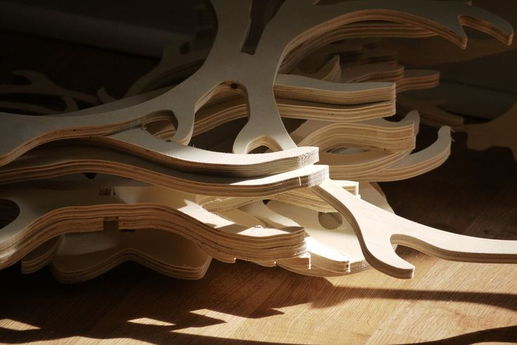 Baltic birch plywood antler handcrafted pendant light hangers being made #Sawdust and #Sunshine longwkd.com