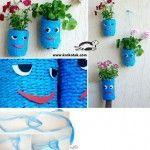 Porta-vasi da vecchie bottiglie di plastica - flower pot from old plastic bottles