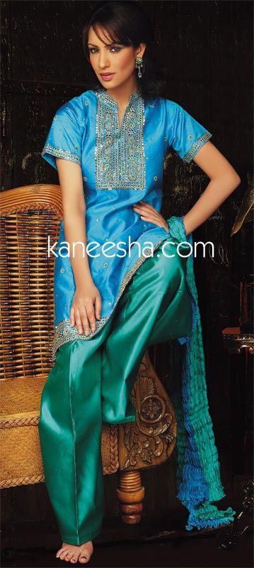 Pure silk salwar kameez