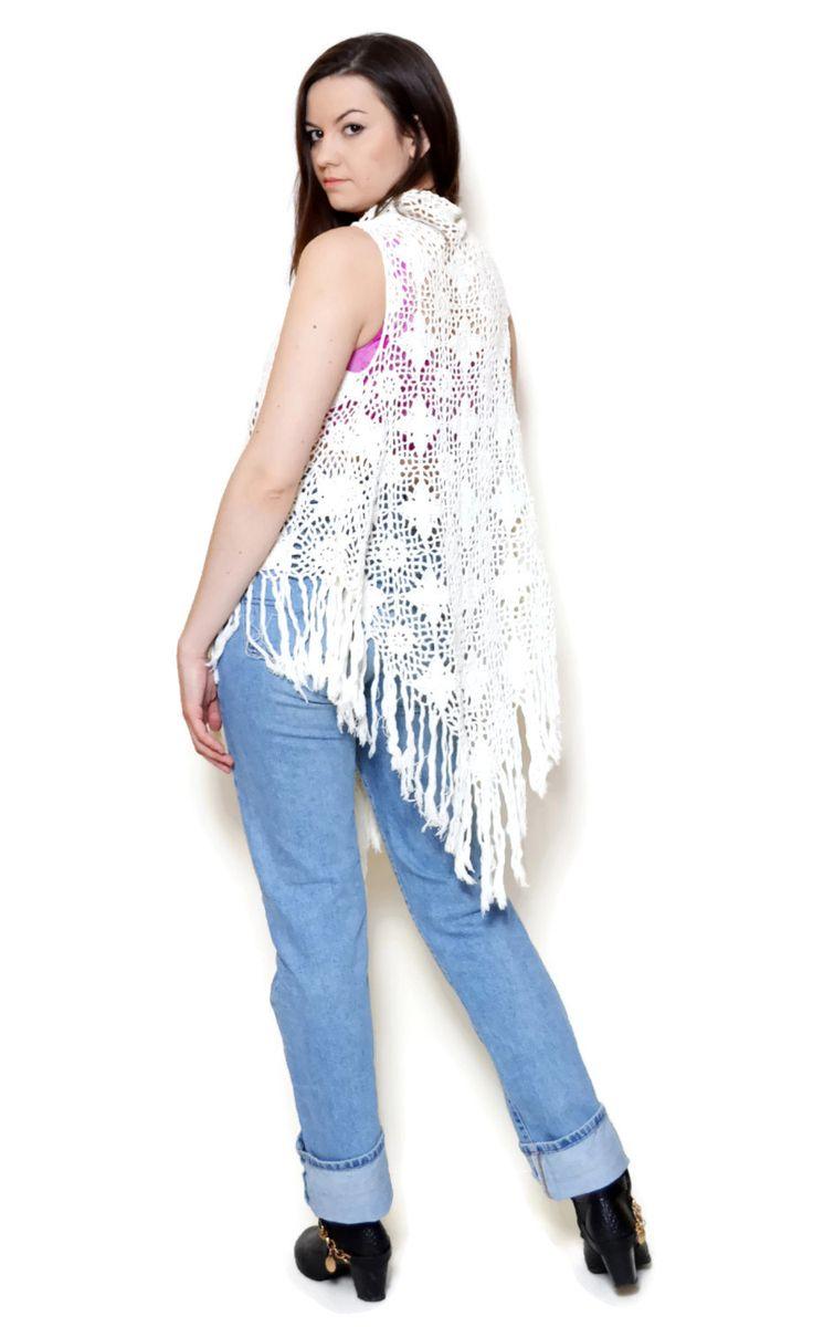crochet vest outfit long US$19.95