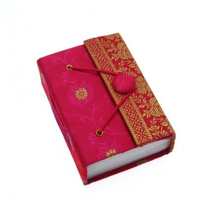 Our beautiful Fair Trade sari covered journals will add a joyous burst of colour to your writing, whether they are used as a diary, travel journal, inspiration book or simple notebook.