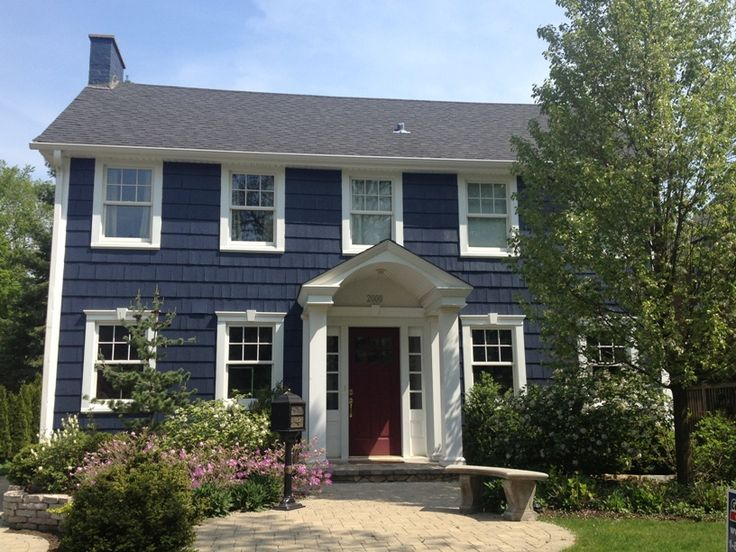 Benjamin Moore Hale Navy Exterior Outdoor Spaces