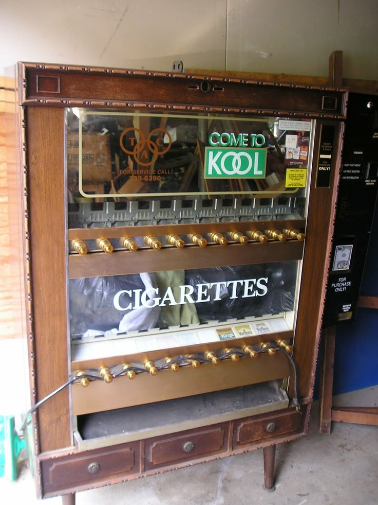 cigarette vending machines - no one cared how old you were.