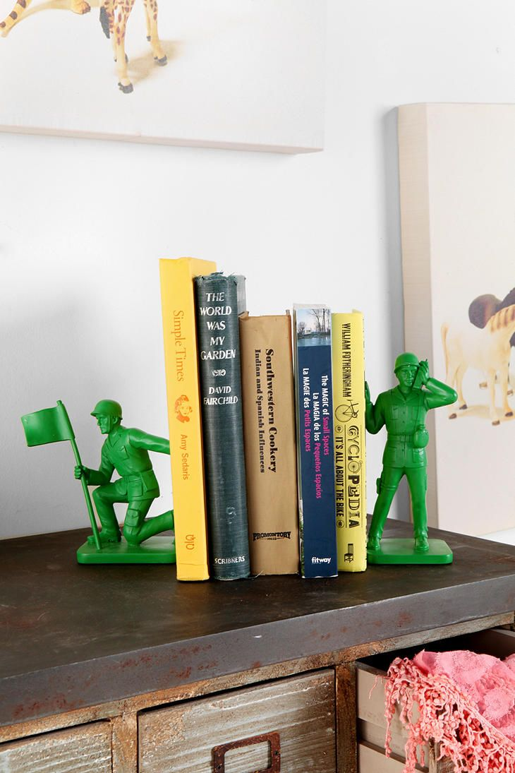 Toy Soldier Bookends for kids room