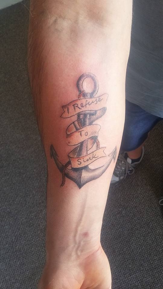An anchor tattoo i did while ago :)