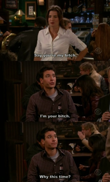 HIMYM: I feel like this is our friendship with Hilary lol