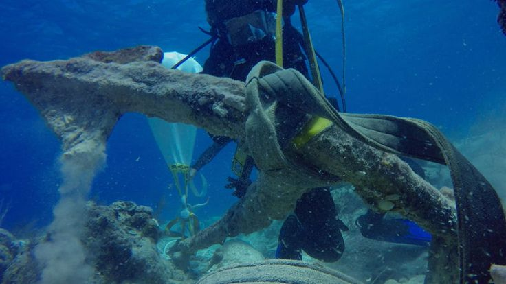 Experts discover 'Christopher Columbus' anchor at Caribbean shipwreck site