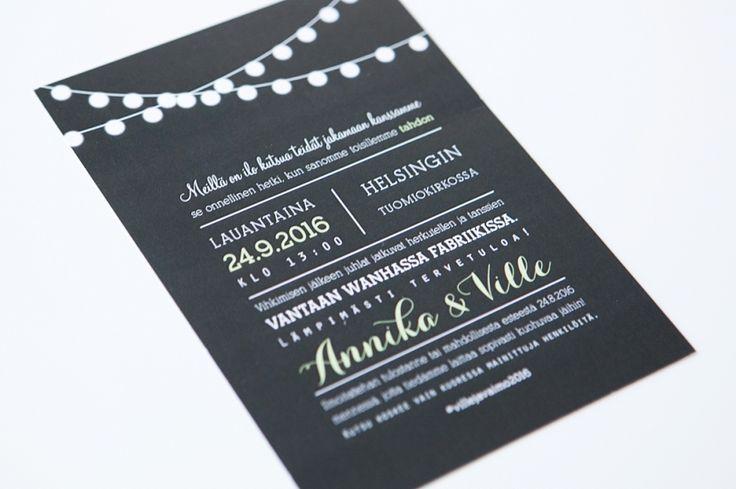 Hääkutsut / Custom made wedding invitation by www.makeadesign.fi