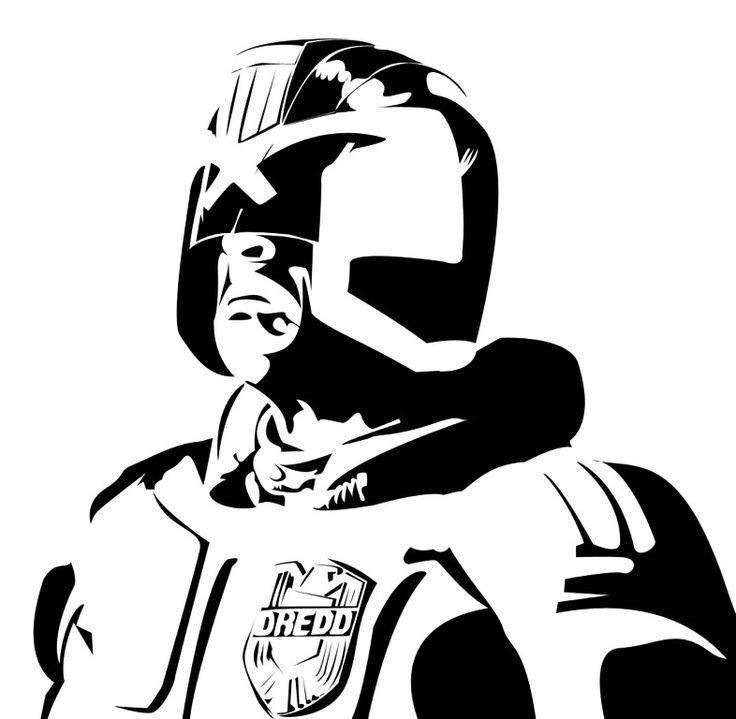 Judge Dred stencil template