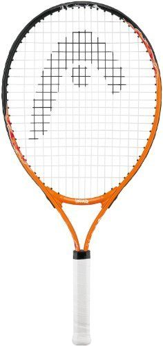 Head B23 Junior Tennis Racquet by HEAD. $38.95. PRODUCT SPECIFICATIONS String Pattern: 16/19 Colorsorange/black Weight195 g (6.9 oz) Beam19 mm (19 mm) Head size680 cm2 (106 sq. inch) Length585 mm (585 mm) SPECIAL NOTES Racquet comes strung. NO cover included. Condition: NEW. Plastic still on handle. Note: We are an authorized dealer: this is an authentic Head racquet.