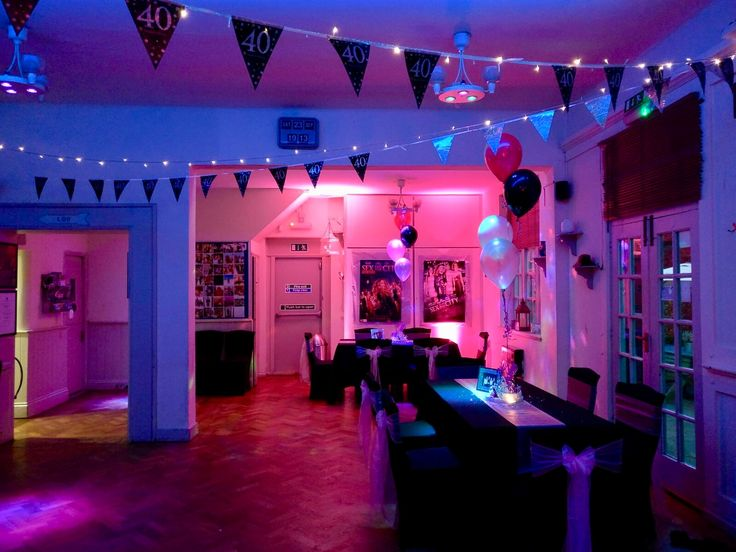 Beautiful New York themed 40th birthday party