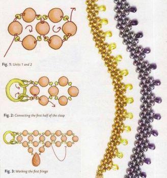 Бусы жемчужно-золотые (2 вида) / Колье, бусы, ожерелья / Biserok.org