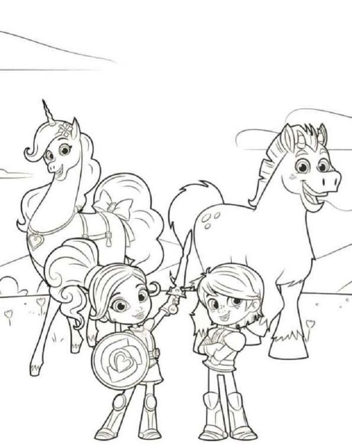 princess knights coloring pages