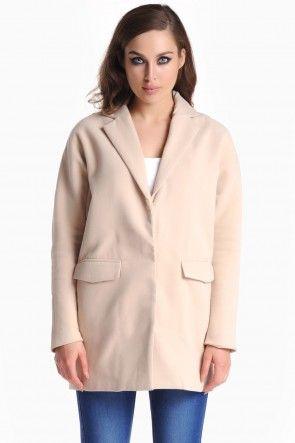 Nadine Boyfriend Coat in Beige