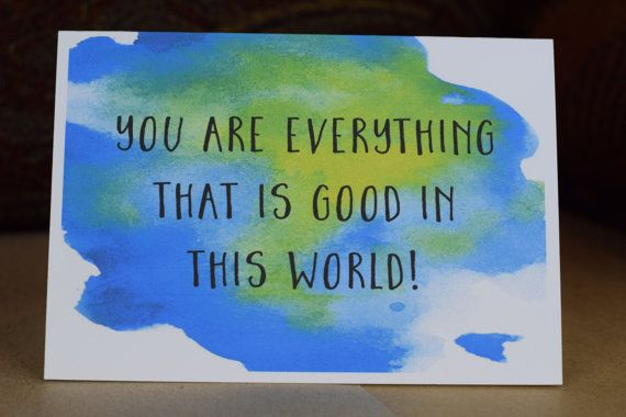 Greeting card, Thoughtfulness card, inspiration, mental health, depression, care card,