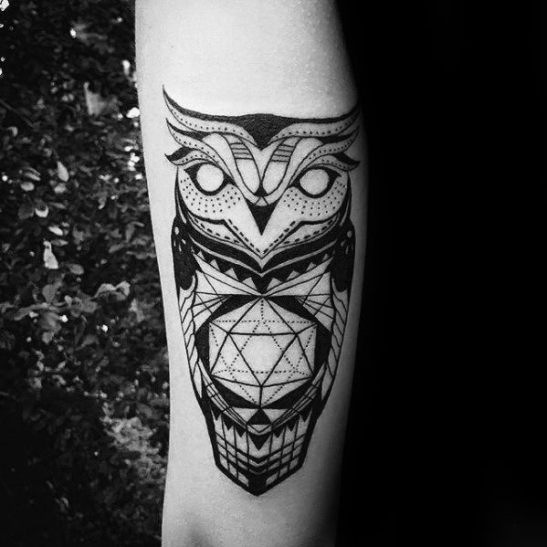2502143a266e6 80 Geometric Owl Tattoo Designs For Men - Shape Ink Ideas | pin ...