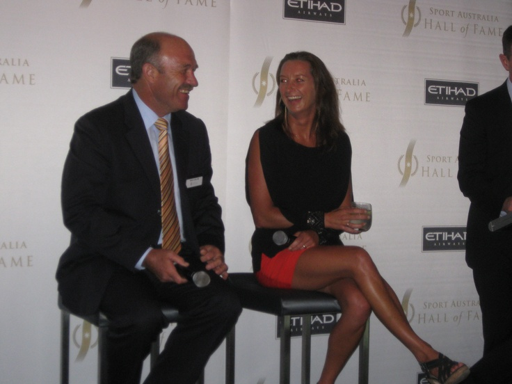 Wally Lewis and Layne Beachley
