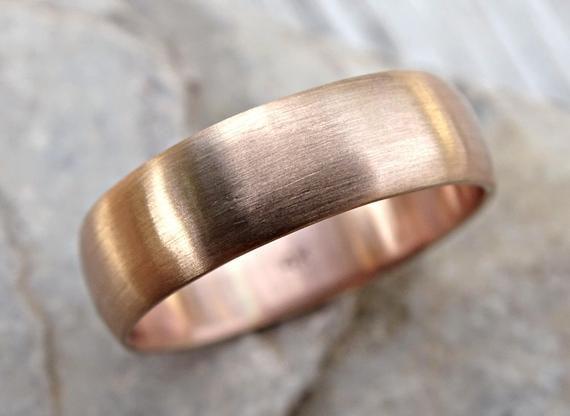 Rose Gold Wedding Band Mens Pink Gold Ring Domed White Gold Wedding Band Mens Wedding Ring Pink Wedding Rings Mens Gold Wedding Band Mens Wedding Rings Gold