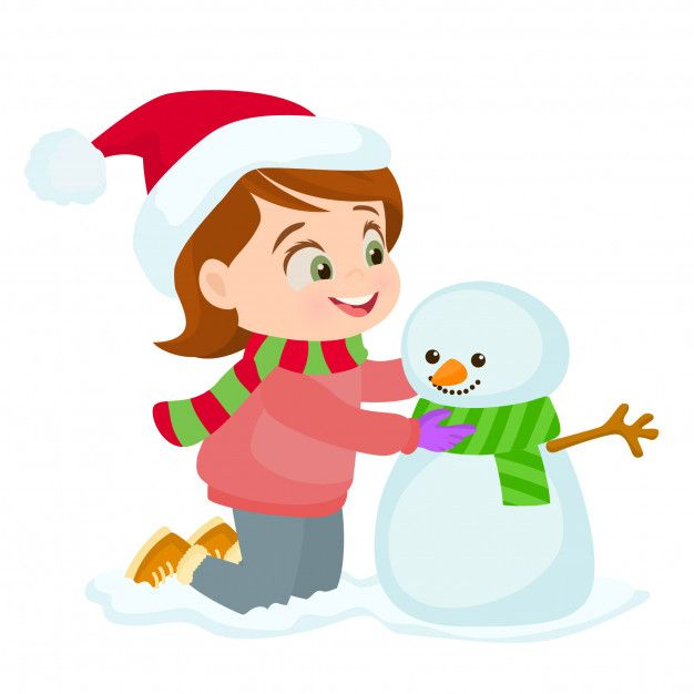 Niña Haciendo Muñeco De Nieve Premium Vector Freepik Vector Navidad Invierno Nieve Santa Muneco De Nieve Nieve Niños