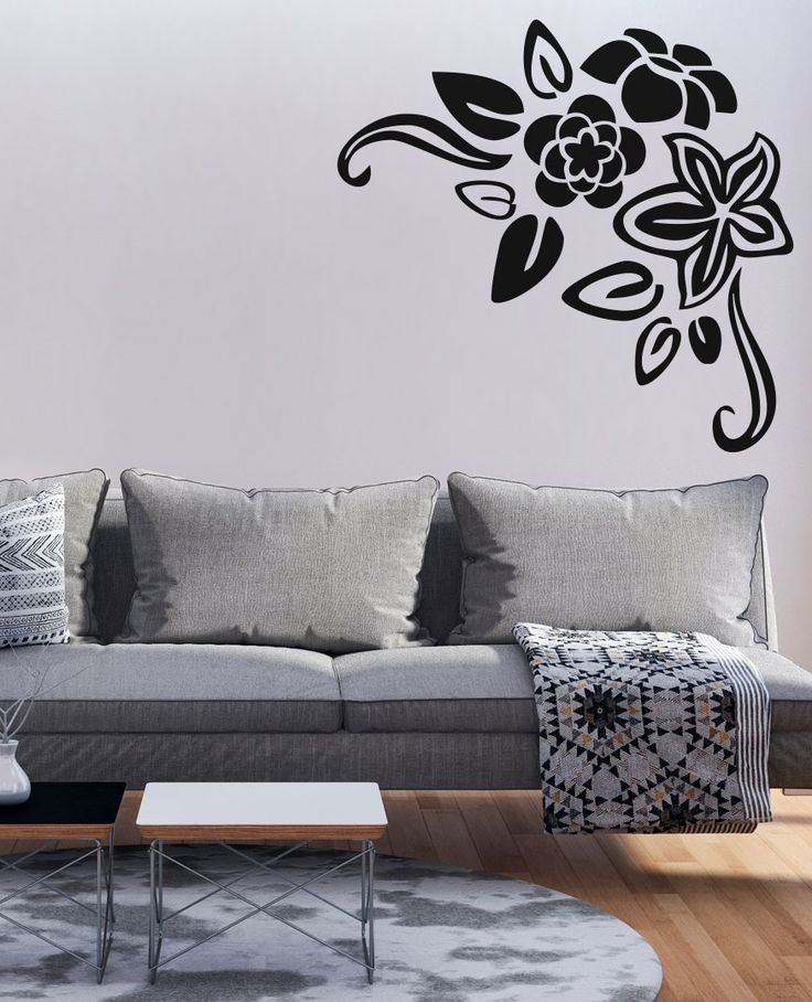 Classy living room needs a ornamental wall art: check out elegant wall stickers / wall decals from bimago