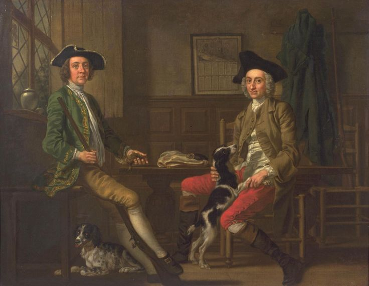 c.1748, Thomas Nuthall and his Friend Hambleton Custance, by Francis Hayman, at the Tate, Reference T00052