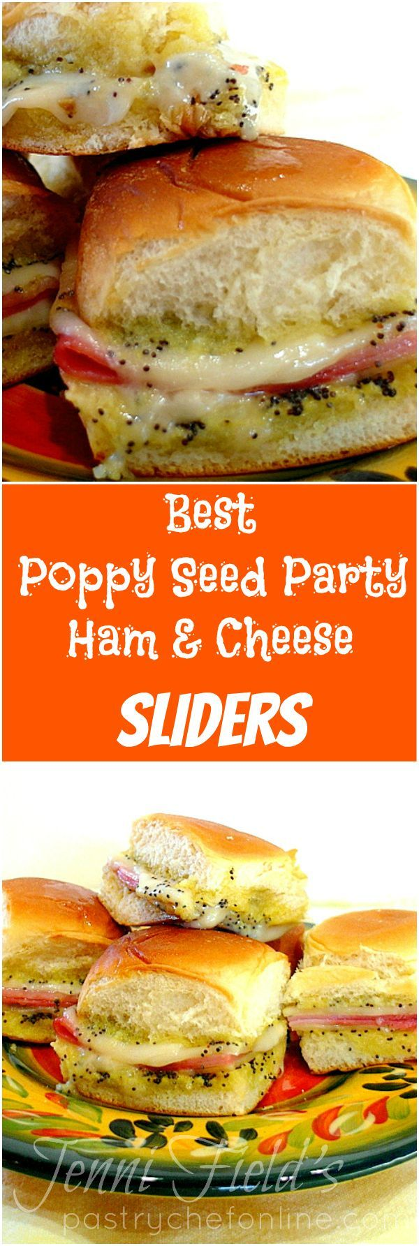 I grew up calling these poppy seed party ham biscuits. You might know them as poppy seed ham and cheese sliders. Either way, they are the perfect party food recipe, and this version, the version everyone in my childhood neighborhood used to make, is the very best ham and cheese slider recipe. Honest. | http://pastrychefonline.com