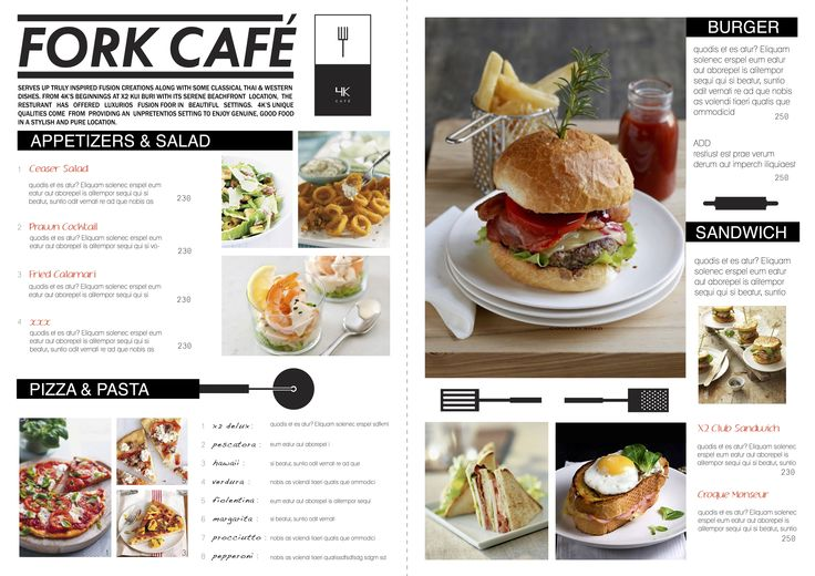 4K - Menu Design by Christabell McDonald