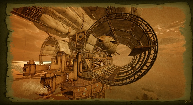 Touring the Steampunk themed Sims of Second life : New World