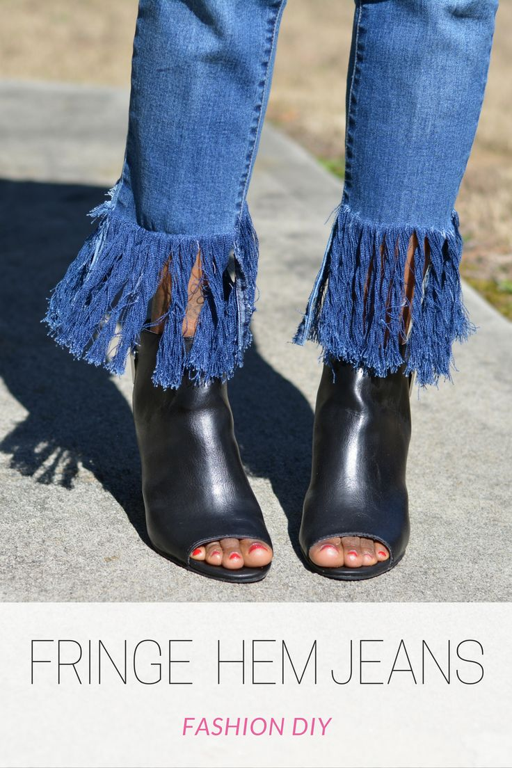 how to add a fringe hem to jeans, slimming jeans, perfect fit jeans, jeans that slim butt, thighs and hips, diy frayed jeans, diy fringe jeans, frayed denim jeans, fringe hem jeans, sponsored tummy control jeans, slimsation jeans, thrifted free people peasant top, fringe hem and shoeties, peep toe shoeties and jeans