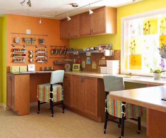 Craft roomScrapbook Room, Crafts Area, Decor Ideas, Crafts Spaces, Crafts Room, Work Spaces, Room Ideas, Basements, Craft Rooms