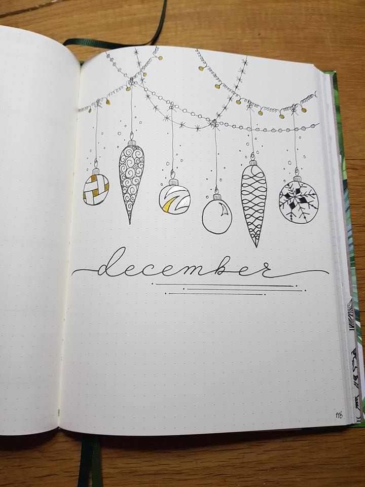 December monthly cover page